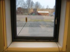 Typische Holzfenster unseres Gebäudeteils
